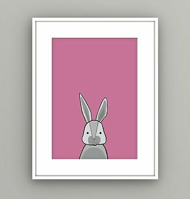 Nursery Kids Childrens Bedroom Woodland Animal Rabbit Wall Art Picture A4 Print