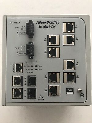 Allen Bradley Stratix 8000 Ethernet Switch 1783-MS10T 1783MS10T