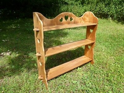 Antique Arts & Crafts Nouveau Elm Bookshelves Shelf Unit Wall Shelves Or Floor