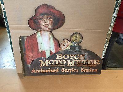 Boyce Moto Meter Authorized Service Station Tin Flange Sign