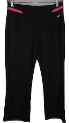 NIKE Athletic Pants Women's Running yoga Dri-Fit Capris Cropped Black Size Small