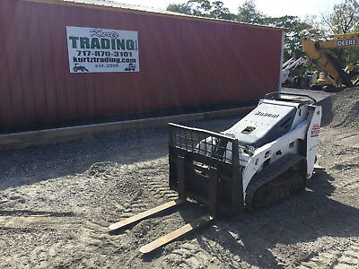 2007 Bobcat MT52 Tracked Skid Steer Loader w/ Bucket, Forks & Platform!