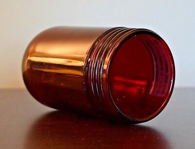 Vintage Russellstoll Red Glass Maritime Light Dome-Cat.No.2383R / GG10R- L@@K