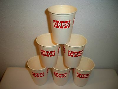 Vintage Lot 6 J I Case Construction Company Logo Advertising Dixie Coffee Cups
