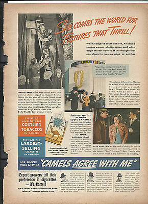 1938 Camel Cigarettes Advertisement *Camels Agree With Me*