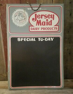 Vintage Jersey Maid Dairy Products sale board. Advertising 24×16