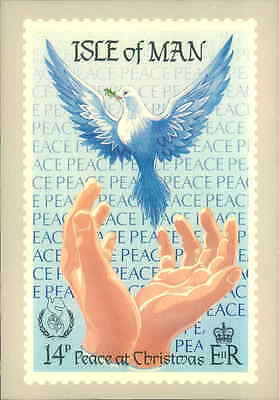 Isle Of Man Peace For Christmas   Stamp First Day Cover Issue Postcard