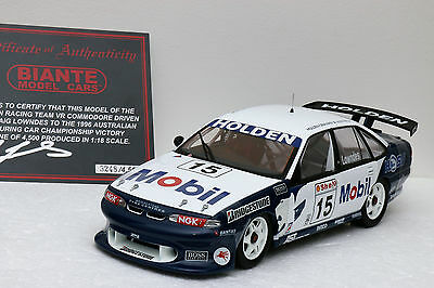 1/18 1996 Craig Lowndes Atcc Winner Signed Biante Mobil Hrt Vr Commodore