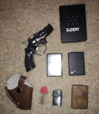 Lot Of Five Lighters, Three Zippos, One Vintage Copper Zippo Included