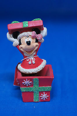Minnie Mouse Christmas Present Bobble Figurine Disney