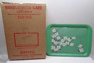 "9 - 14 1/4"" x 9"" Metal Serving Plate DOGWOOD BLOSSOM TRAYS ~ Harvell  with box"
