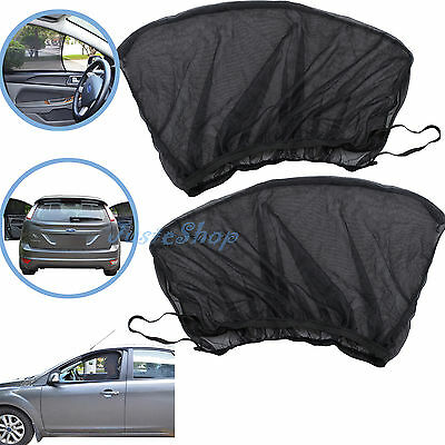 2x Universal Sun Shades Rear Side Seat Car Window Baby Kids Protector  Curtain