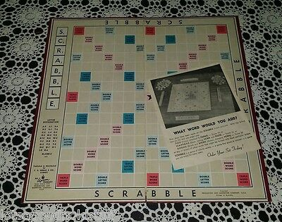 Vintage SCRABBLE Game Board Only Replacement Parts Spare