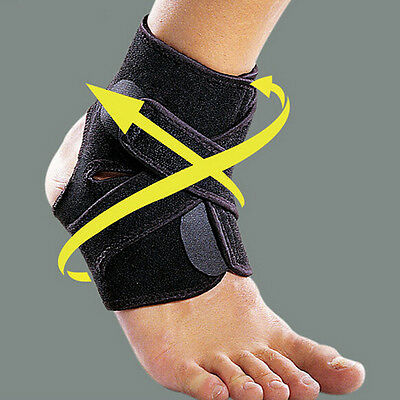Ankle Support Brace Foot Guard Sport Injury Wrap Elastic Splint Strap Protector*