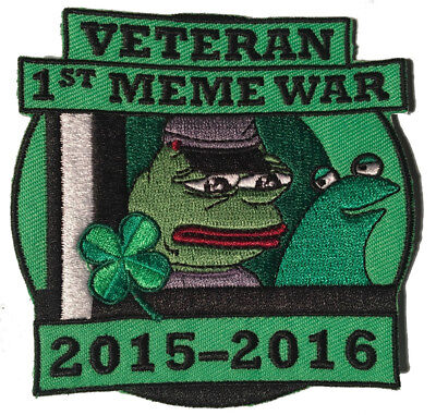 Pepe Veteran of First Meme War Patch, Pepe the frog Kekistan Shadilay 4chan Kek