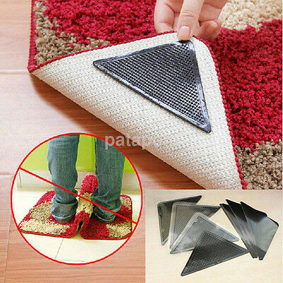 Rug Carpet Mat Grippers Anti Skid Reusable Silicone Grip 4 Marketable Chic US