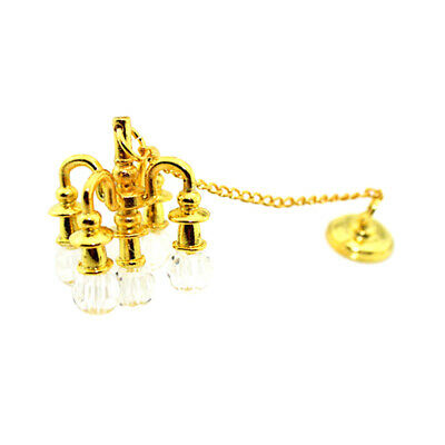Miniature LED Light Lamp w/ Button Battery for 1:12 Dolls House Rooms Decor ACCS