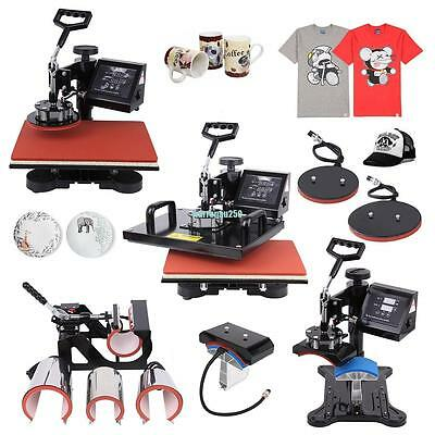 8 in 1 T-Shirt Mug Hat Plate DIY Heat Press Machine Digital Transfer Sublimation