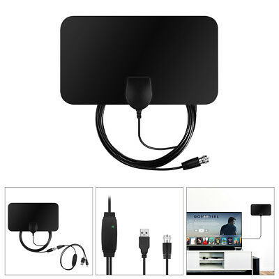 50 Mile Range TV Antenna, Upgraded Version USB Powered Amplified HDTV Antenna HD