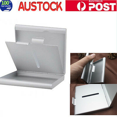 Metal Cigarette Case Box Holds 20pcs Silver Pocket Tobacco Container