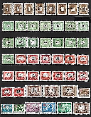 HUNGARY - mixed collection, Postage Due No.4, 1951-1973