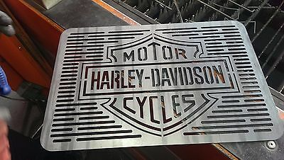 Harley Davidson Barbecue Logo. Dxf file for BBQ. Laser cutting