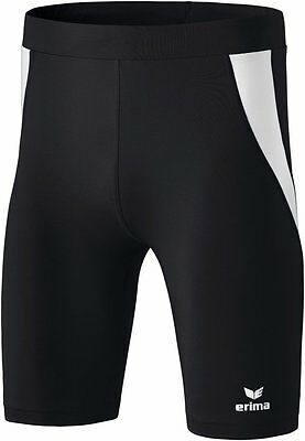 Erima Kids Sports Athletic Workout Running Short Tights Black White