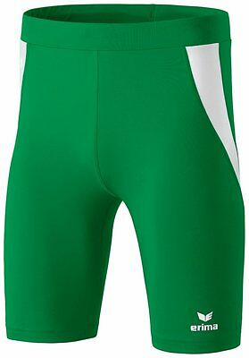 Erima Kids Sports Athletic Workout Running Short Tights Green White