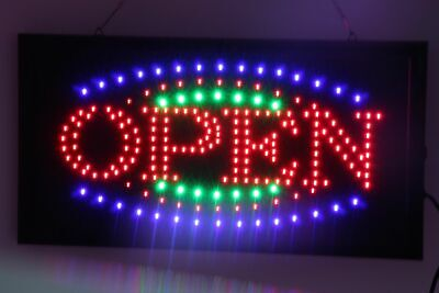 LED NEON WELCOME OPEN Sign for SHOP, SIZE: 55CM X 33CM 240V AU Plug