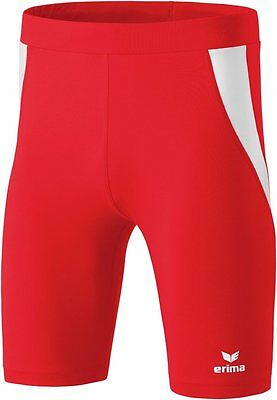 Erima Kids Sports Athletic Workout Running Short Tights Red White