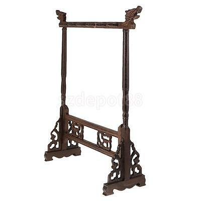 Wooden Chinese Calligraphy Painting Brush Pen Hanging Rack Hook Holder Stand