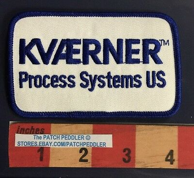 Advertising Patch Offshore Oil Industry KVAERNER PROCESS SYSTEMS US OIL RIG 58OO