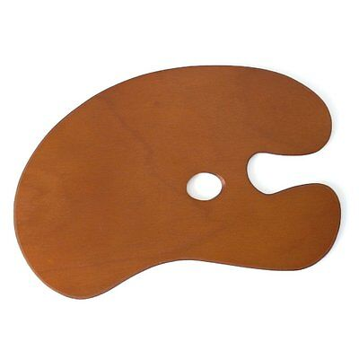 Artists Large Wooden Traditional Kidney Shaped Painting Palette 58 x 40cm