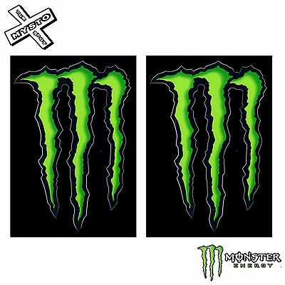 """2x MONSTER ENERGY 4"""" STICKERS GREEN CLAW 100% ORIGINAL DECAL NEW FREE UK SHIP"""