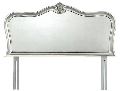Elegant French Silver Solid Wooden Headboard (Single, Double, King, Superking)