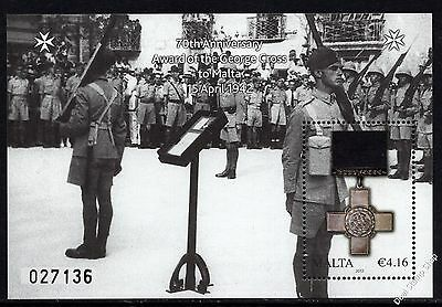 Malta 2012 Award of St. George's Cross Miniature Sheet SG MS1730 Unmounted Mint