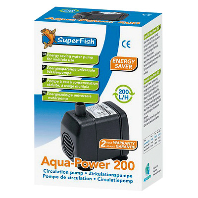 Superfish Pompe A Eau Aquapower Aquarium Poissons Fish Tank Centrifuge Filtre