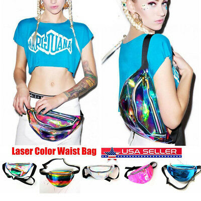 Mini Laser Color Women Pack Transparent Waist Bags Shoulder Bag Messenger Bags