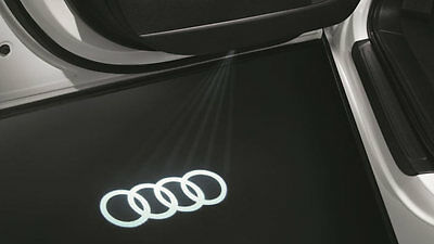 Genuine Audi Entry Puddle Projection Light Lamp Kit - 4 Rings A4 A5 A6 A7 Q5 Q7!