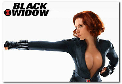"Sexy Black Widow Scarlett Johansson Fridge Toolbox Magnet Size 3.5"" x 2.5"""
