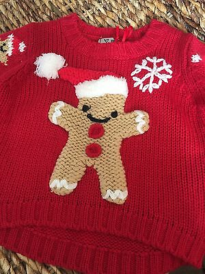 Babys first christmas outfit Next Jumper And Booties 3-6months