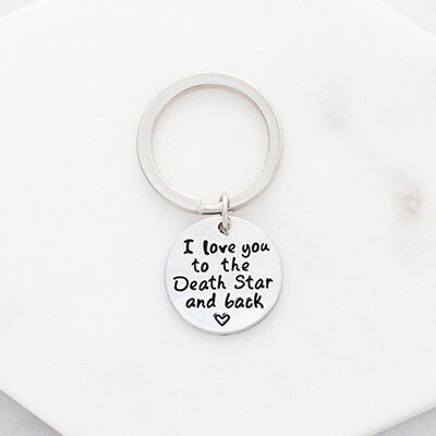 NEW I love you to the death star and back keyring in silver by Hello We Make Stu