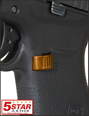 Gold - Aluminum Extended Magazine Release Button For Glock 43 9Mm Gen 3