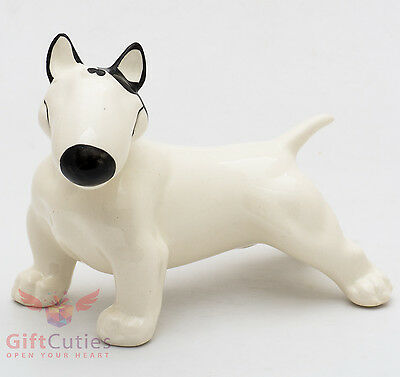 Porcelain Figurine of the Pit Bull Terrier Dog