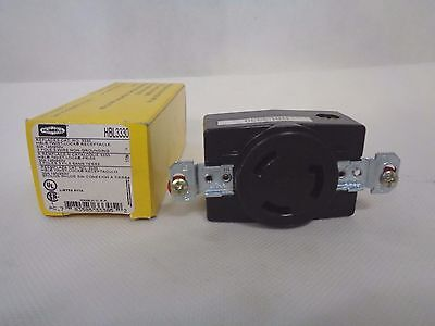 New Hubbell Hbl3330 Twist-Lock Receptacle 30 Amp 125/250V
