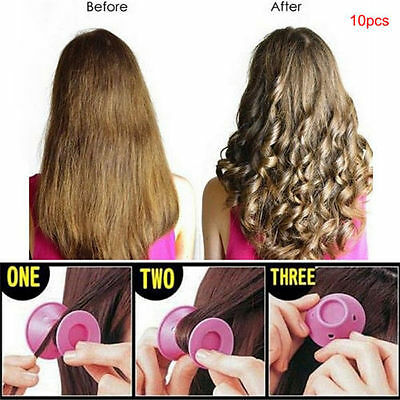 Silicone No Heat Hair Curlers Magic Soft Rollers Hair Care DIY Tool UK Seller