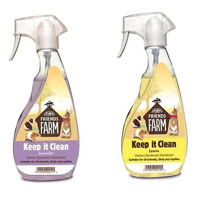 Supreme Tiny Friends KEEP IT CLEAN Rabbit Pet Cage Cleaner Disinfectant Spray