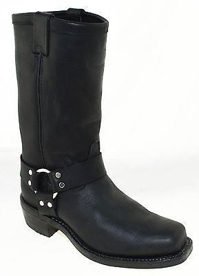 """Chippewa Men's 12"""" Black Leather Motorcycle Boots Style 27868, 8.5M"""