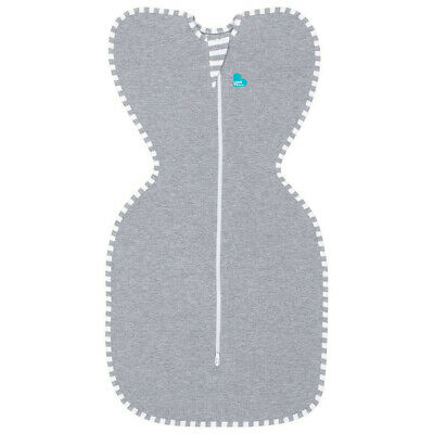 Love to Dream Swaddle Up Original 1.0 Tog Grey Small 3 - 6kg Zip Up Swaddle