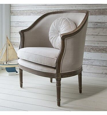 De Fleurs Weathered With Linen Tub Chair / Armchair